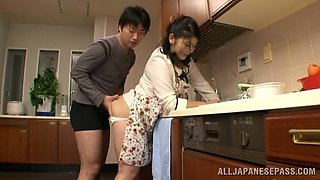 video titel: Chubby Japanese housewife gets pounded in a kitchen || porn tgas: chubby,housewife,japanese,kitchen,anyporn