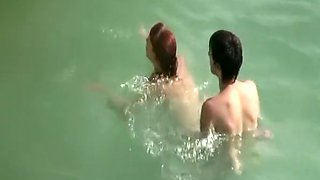 video titel: Young couple fucks in the water || porn tgas: couple,fuck,young,voyeurhit