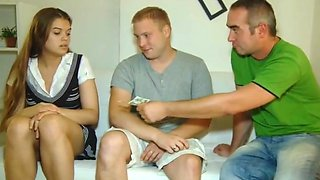 video titel: Dad fucking my girlfriend || porn tgas: 3some,college,daddy,doggy,