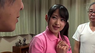 video titel: Slim Japanese Teen blows old men and collects their semen to swallow || porn tgas: japanese,old and young,slim,swallow,